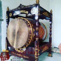 Bedug Masjid Ukir Kaligrafi Arab Dari Kayu Jati