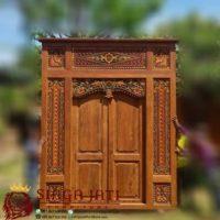 Model Pintu Gebyok Antik Minimalis Ukir Kayu Jati
