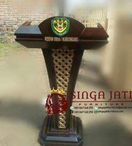 Mimbar Podium Minimalis Mimbar Pidato Kayu Jati