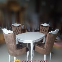 Jual Meja Makan Oval Minimalis 6 Kursi Terbaru