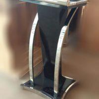 Jual Mimbar Masjid Minimalis Stainless Jati Murah