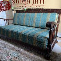 Sofa Tamu Klasik Minimalis Kayu Jati Desain Modern