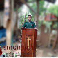 Mimbar Gereja Minimalis Jati Terbaru Mimbar Marturia