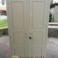 Jual Lemari Baju Kayu Jati Model Minimalis Shabby Terbaru
