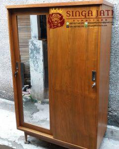 Jual Lemari Pakaian Jati 2 Pintu Minimalis Modern