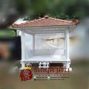 Menerima Pemesanan Saung Gazebo Kayu Jati dan Kayu Kelapa Harga Murah