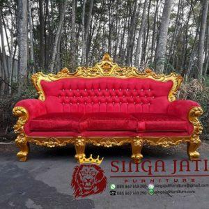 Kursi Tamu Mewah Minimalis Terbaru Bahan Kayu Jati