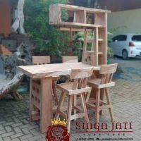Meja Bar Kayu Trembesi Model Minimalis dan Berkualitas Tinggi