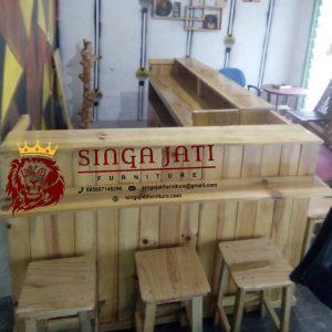 Jual Mini Bar Cafe Kayu Jati Belanda dengan Kualitas Terjamin