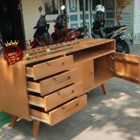 Buffet Minimalis Kayu Jati Modern Untuk Interior Rumah