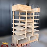 Model Rak Sepatu dari Kayu Jati Minimalis