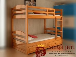 Tempat Tidur Tingkat Minimalis Simpel Kualitas Terbaik